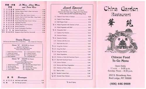 Red Lodge Chinese Food